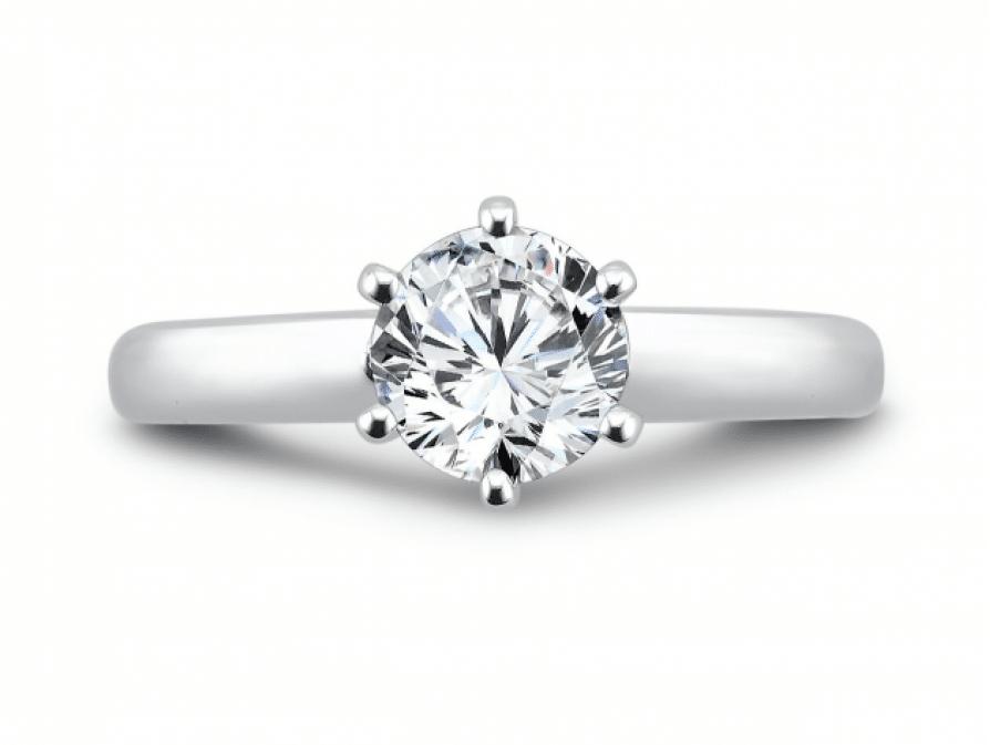 Round Solitaire Diamond Rings Dallas Texas 3, Shira Diamonds