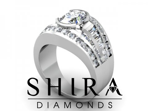 Shira Diamonds SDR - Karen - Custom Round Bezel Diamond Engagement Rings in Dallas Texas 1