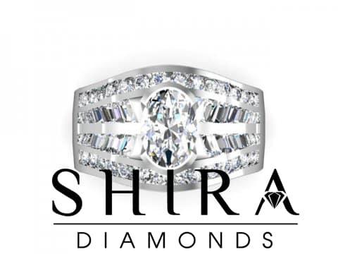 Shira Diamonds SDR Karen Custom Round Bezel Diamond Engagement Rings In Dallas Texas 4 1, Shira Diamonds
