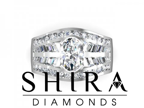 Shira Diamonds SDR - Karen - Custom Round Bezel Diamond Engagement Rings in Dallas Texas 4