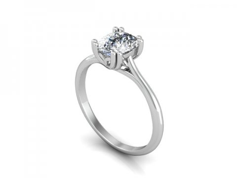 Solitiare Cushion Diamond Ring 1