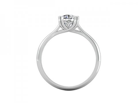 Solitiare Cushion Diamond Ring 3