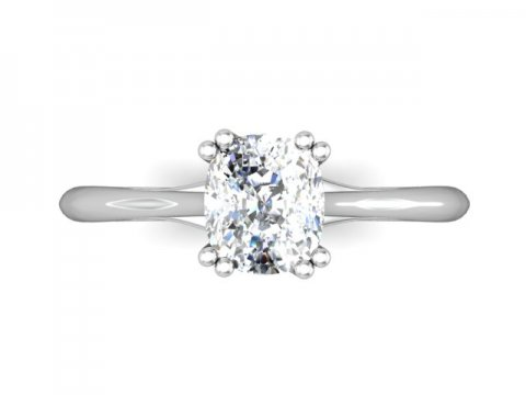 Solitiare Cushion Diamond Ring 4