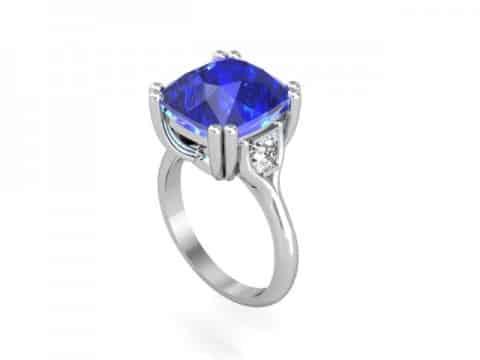 Tanzanite Diamond Ring Dallas 1