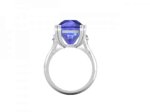 Tanzanite Diamond Ring Dallas 3