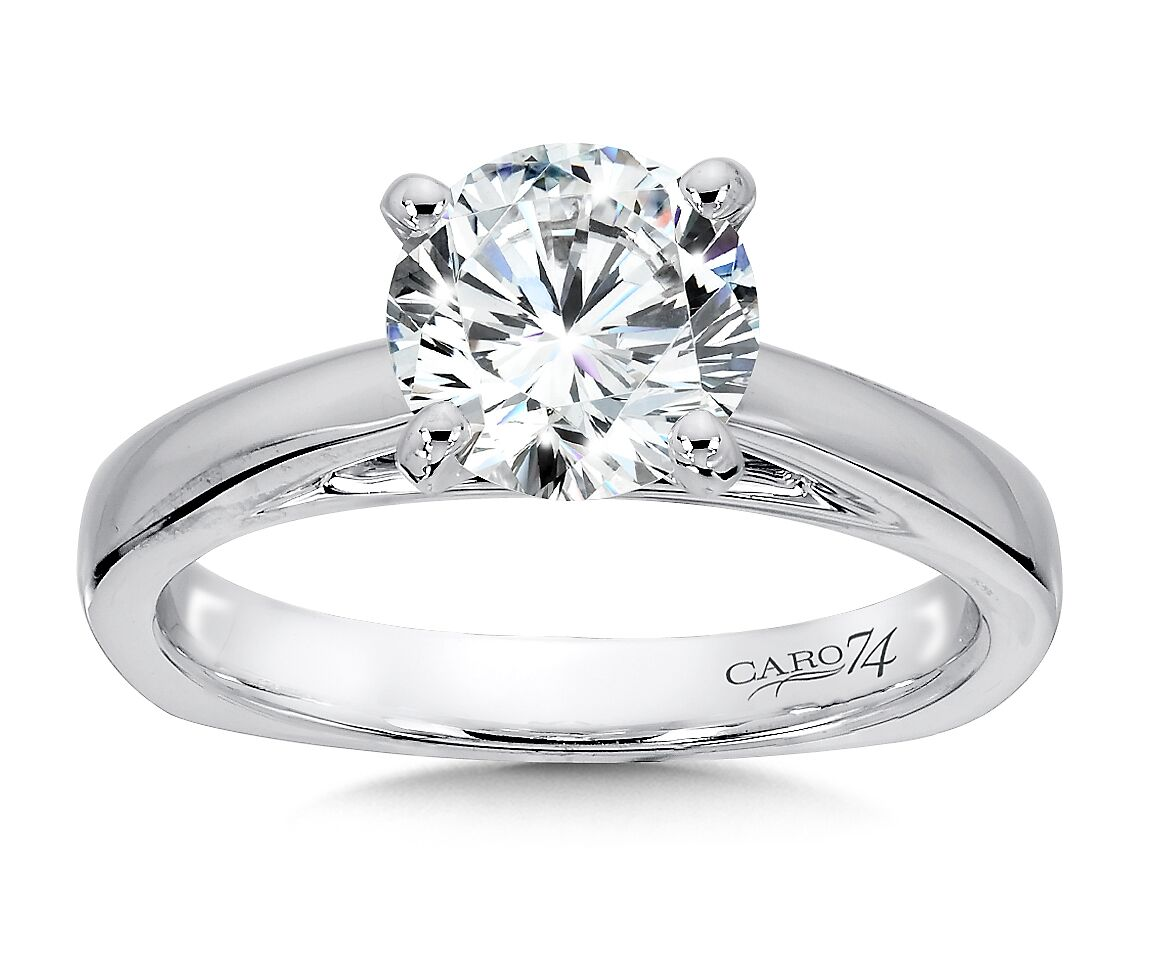 White Gold Solitaire Diamond Ring 1