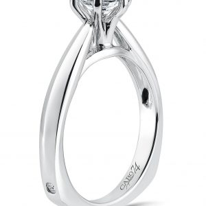 White Gold Solitaire Diamond Ring 2