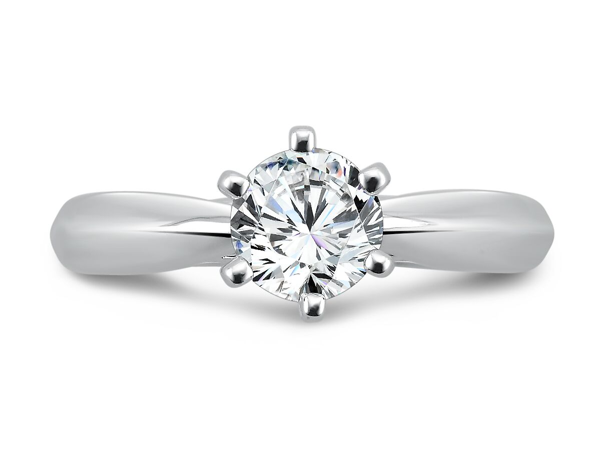White Gold Solitaire Diamond Ring 3