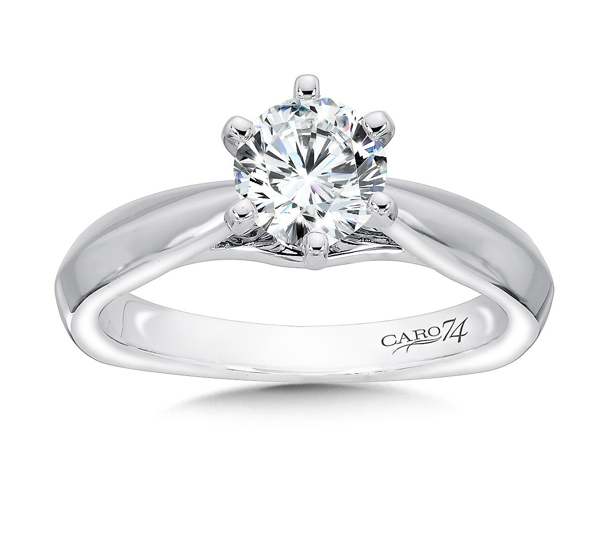 White Gold Solitaire Diamond Ring 4