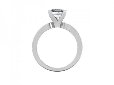 White Gold Solitaire Engagement Ring 3
