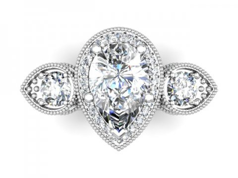 Wholesale Jewelry Arlington Texas Custom Pear Engagement Rings Dallas 4, Shira Diamonds