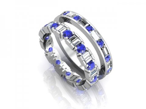 Wholesale Sapphire Wedding Bands Dallas 1 1, Shira Diamonds