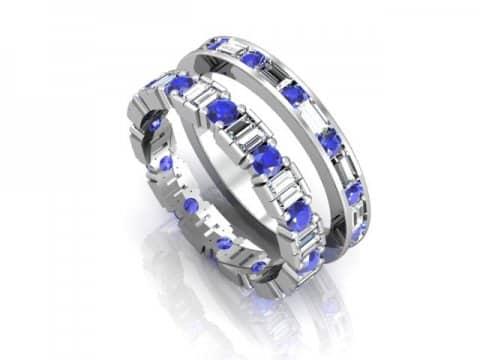 Wholesale Sapphire Wedding Bands Dallas 1 1, Shira Diamonds