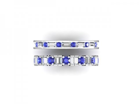 Wholesale Sapphire Wedding Bands Dallas 3 1, Shira Diamonds