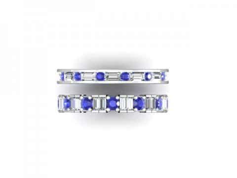 Wholesale Sapphire Wedding Bands Dallas 3 1, Shira Diamonds