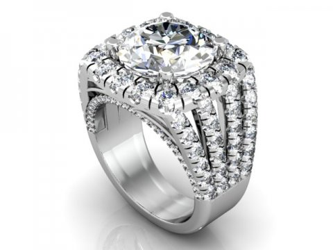 Wholesale Split Shank Diamond Rings 1