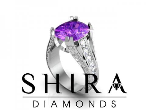 Amethyst Diamond Engagement Ring 5 Carat Amethyst Shira Diamonds 214 707 1182 1 2, Shira Diamonds