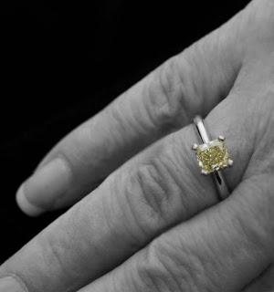 Canary Diamond Ring, Shira Diamonds
