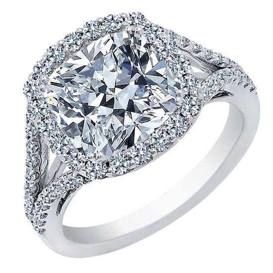 Cushion Cut Diamond Engagement Rings Dallas 1, Shira Diamonds
