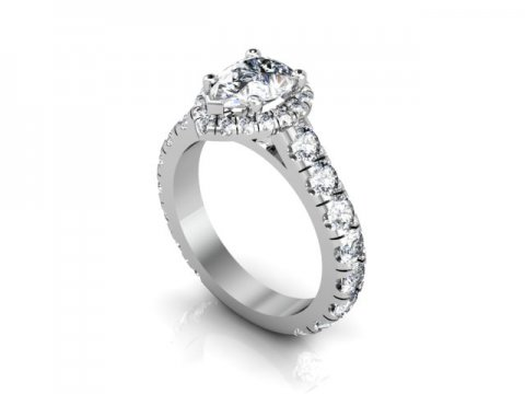 custom 1 carat pear diamond ring - custom diamond rings dallas 2