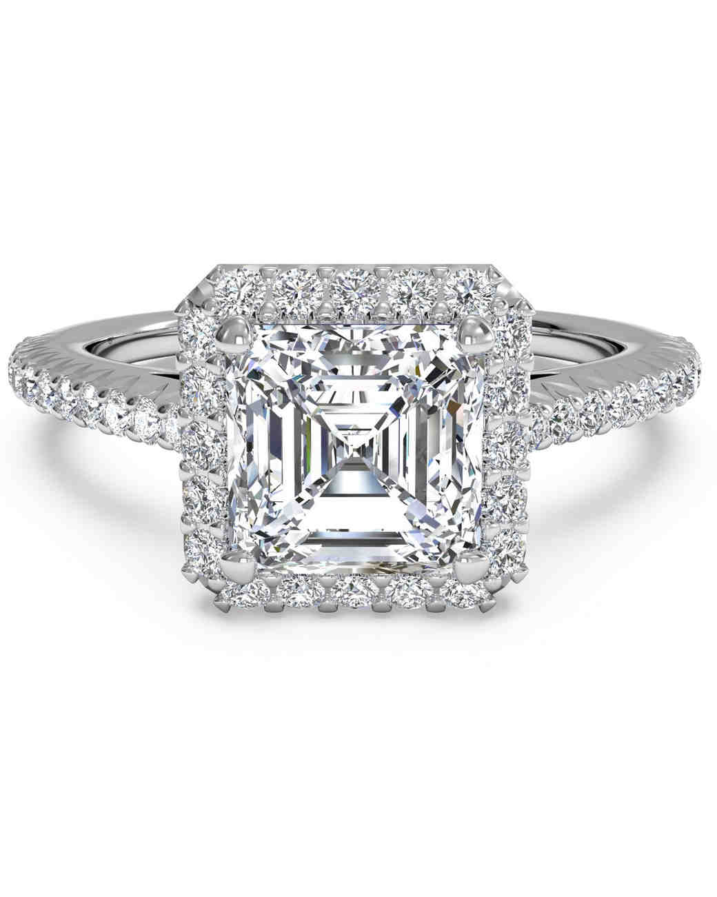 Custom Asscher Diamond Engagement Rings In Dallas Texas, Shira Diamonds