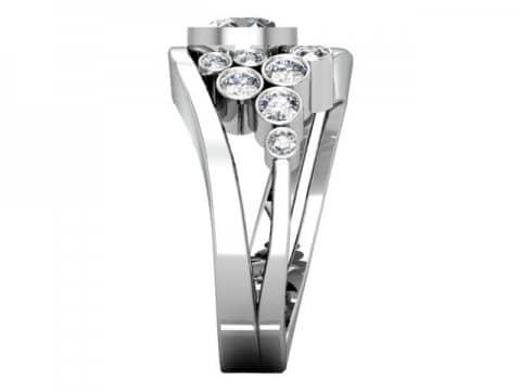 Custom Bezel Diamond Engagement Ring Prosper Texas 2 1, Shira Diamonds