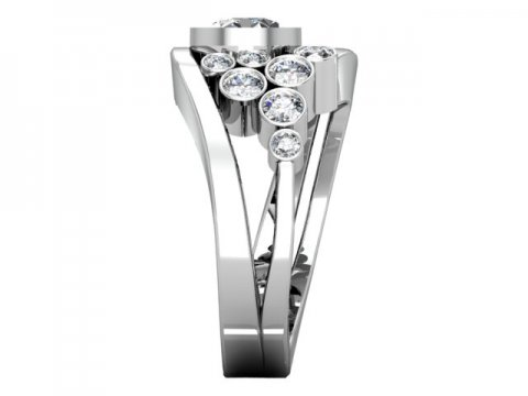Custom Bezel Diamond Engagement Ring Prosper Texas 2, Shira Diamonds