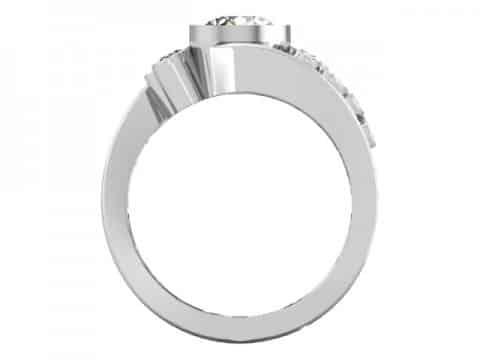 Custom Bezel Diamond Engagement Ring Prosper Texas 3, Shira Diamonds