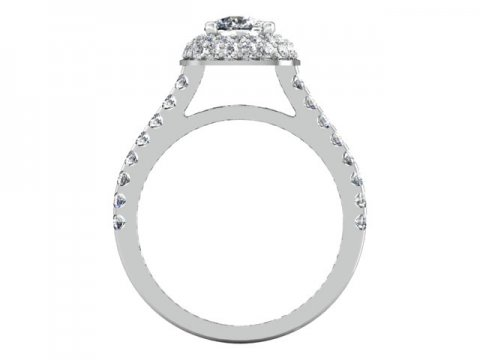 Custom Cushion Halo Engagement Ring 3 1, Shira Diamonds