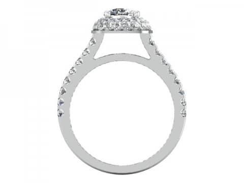 Custom Cushion Halo Engagement Ring 3 1, Shira Diamonds