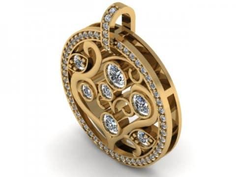custom diamond pendant dallas 1