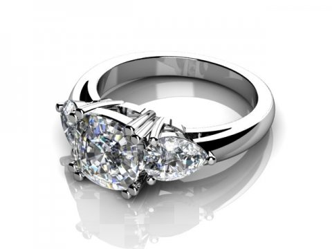 Custom Diamond Rings Bay City Engagement Rings 1 1, Shira Diamonds