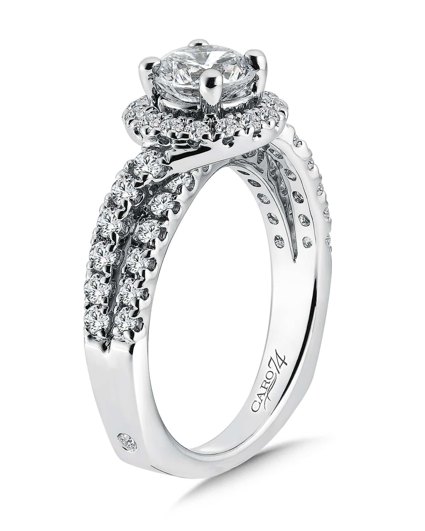 custom halo diamond rings plano round diamond