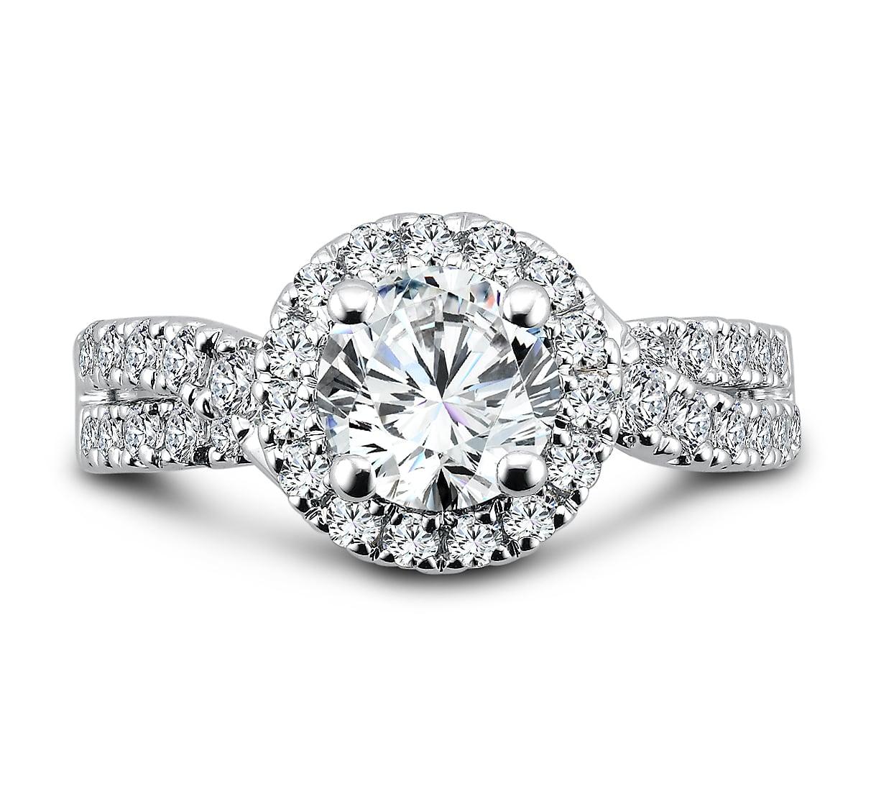 custom halo diamond rings