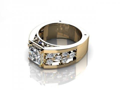 custom princess diamond ring custom bezel diamond ring dallas 1