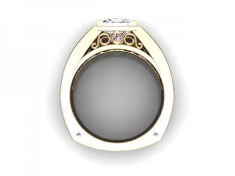 custom princess diamond ring custom bezel diamond ring dallas 3