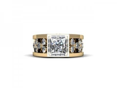 Custom Princess Diamond Ring Custom Bezel Diamond Ring Dallas 4, Shira Diamonds