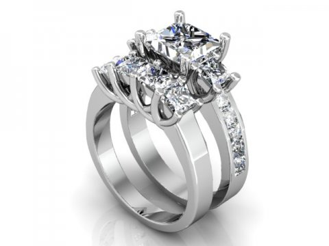 Custom Princess Engagement Rings 1 1 1, Shira Diamonds
