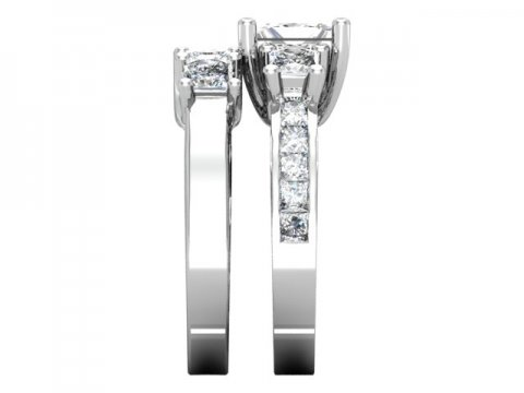 Custom Princess Engagement Rings 2, Shira Diamonds