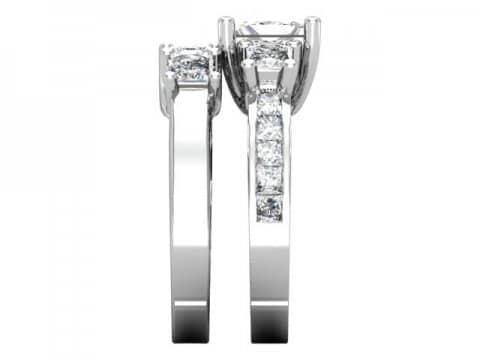 Custom Princess Engagement Rings 2, Shira Diamonds