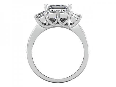 Custom Princess Engagement Rings 3 1, Shira Diamonds
