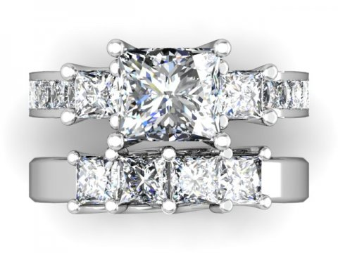 Custom Princess Engagement Rings 4 1, Shira Diamonds