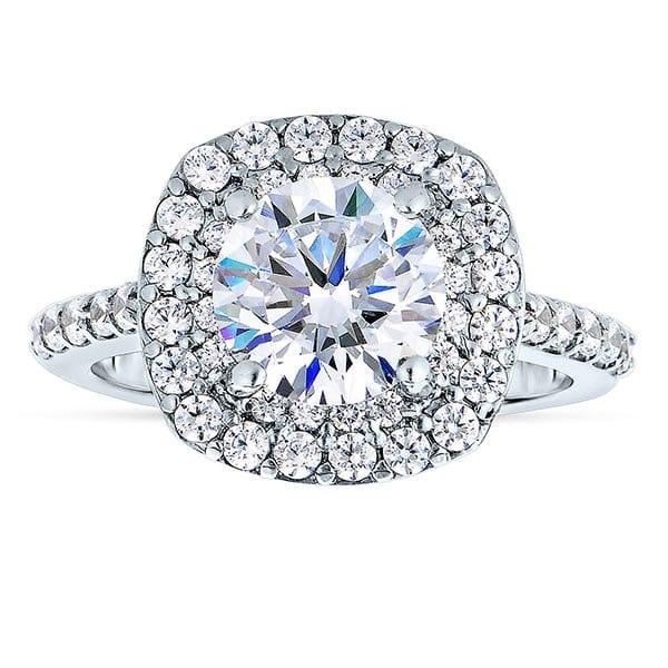 custom round halo engagement ring 1 1_2 carat diamonds - dallas texas 1