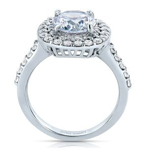 custom round halo engagement ring 1 1_2 carat diamonds - dallas texas 2