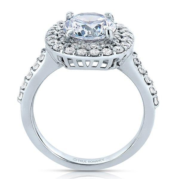 custom round halo engagement ring 1 1_2 carat diamonds - dallas texas 2