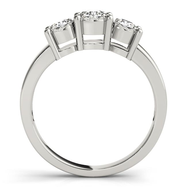 Custom Three Stone Diamond Ring 3 Carat Engagement Ring Dallas 1, Shira Diamonds