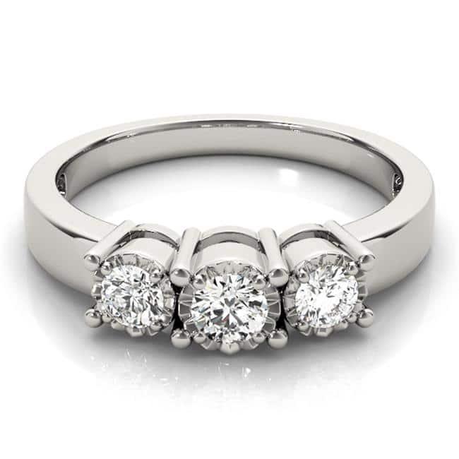 Custom Three Stone Diamond Ring 3 Carat Engagement Ring Dallas 2 1, Shira Diamonds