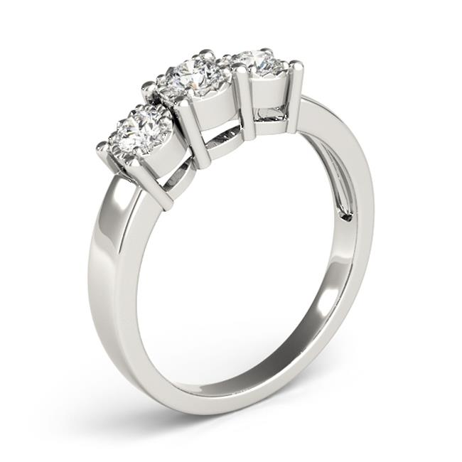 Custom Three Stone Diamond Ring 3 Carat Engagement Ring Dallas 3, Shira Diamonds