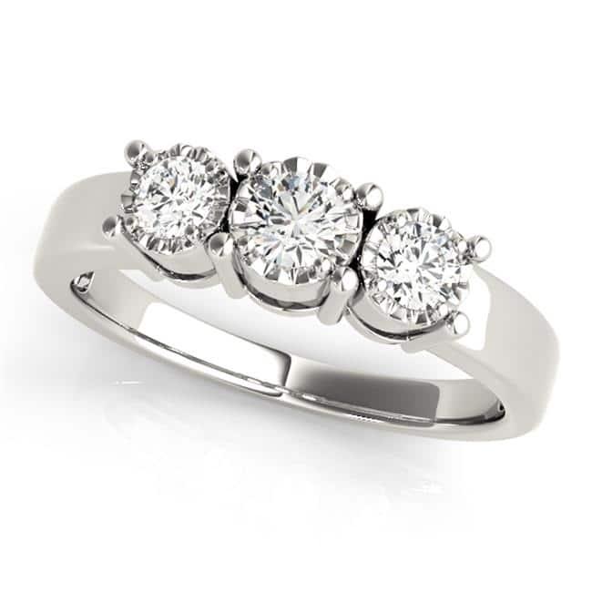 Custom Three Stone Diamond Ring 3 Carat Engagement Ring Dallas 4 2, Shira Diamonds