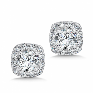 custom_square_halo_diamond_studs_dallas